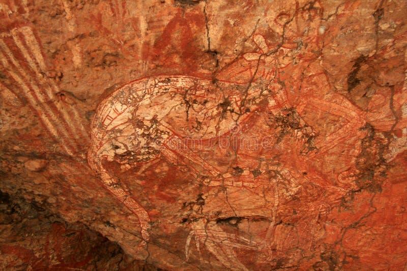 De inheemse Kunst van de Rots, Australië royalty-vrije stock foto