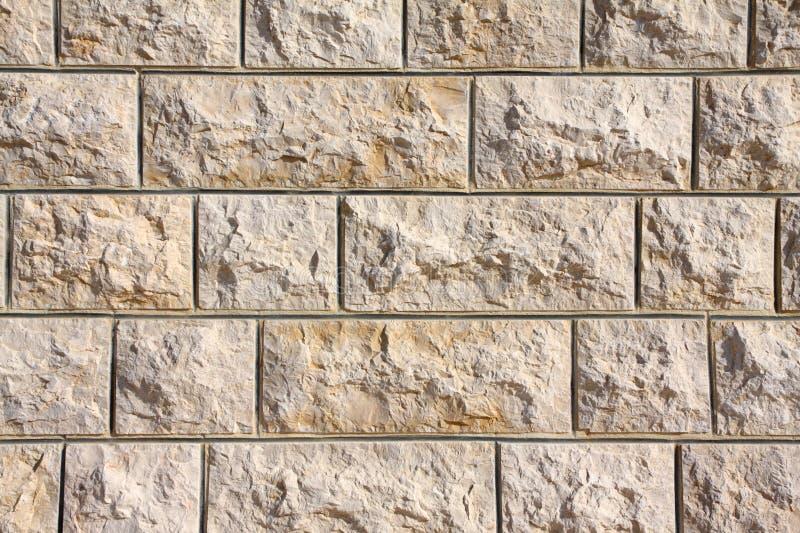 De inheemse Libanese Muur van het Kalksteen royalty-vrije stock afbeeldingen