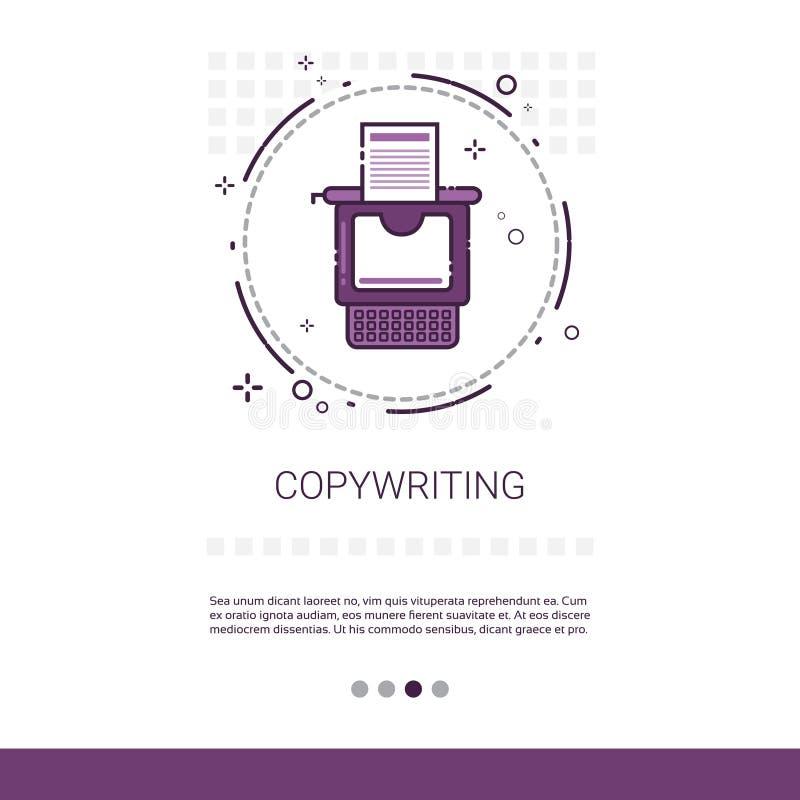 De Inhoud van het Copywritings Freelance Beroep Marketing Webbanner met Exemplaarruimte vector illustratie