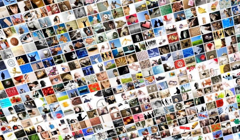 De inhoud van media stock foto