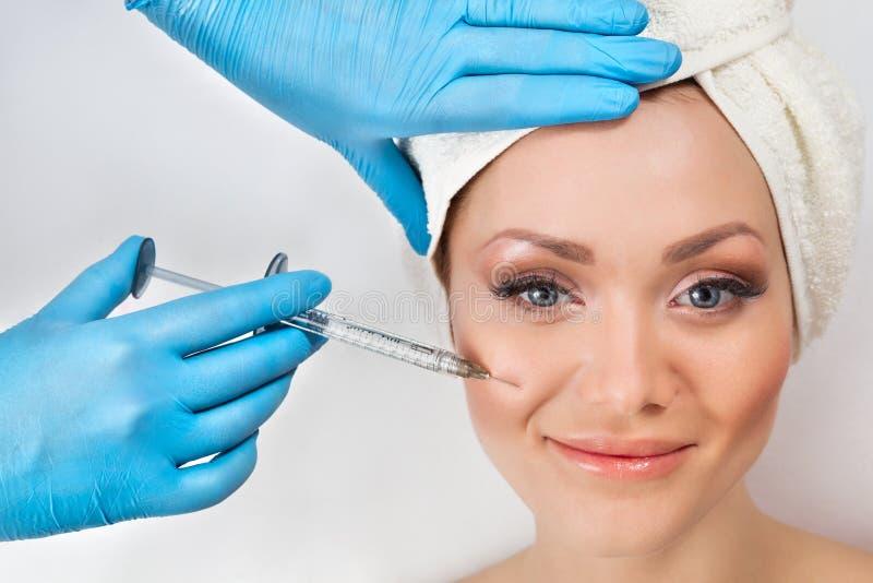De injectie van Botox royalty-vrije stock afbeelding