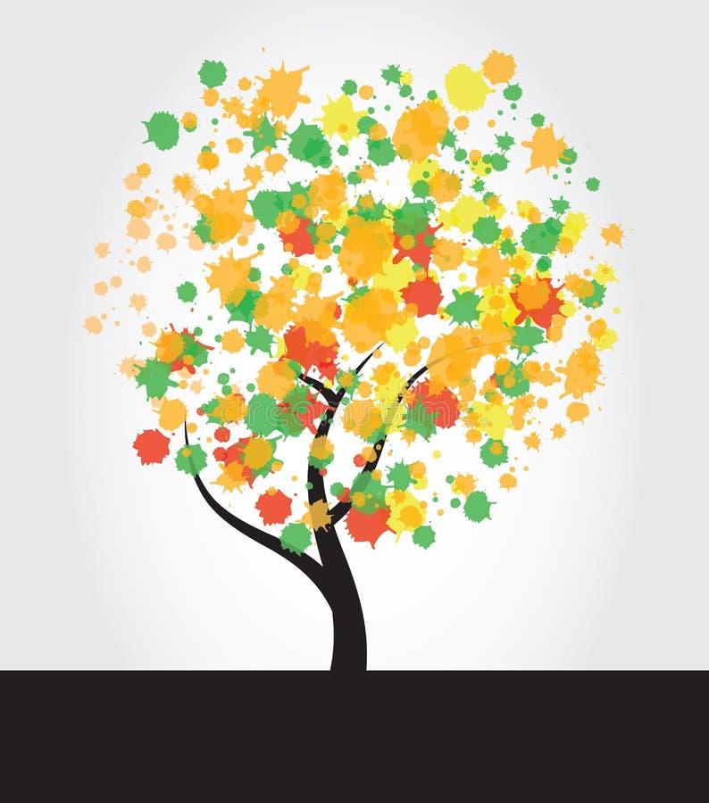 De Inkt van de boom ploetert royalty-vrije illustratie