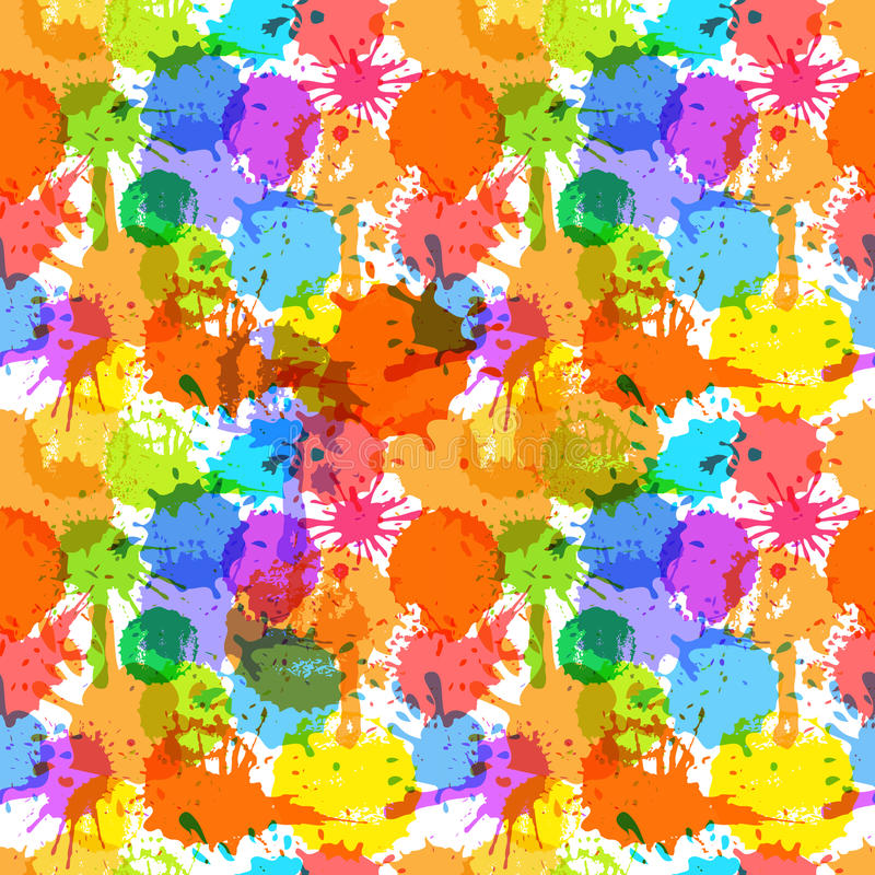 De inktvlekken van de kleur royalty-vrije illustratie