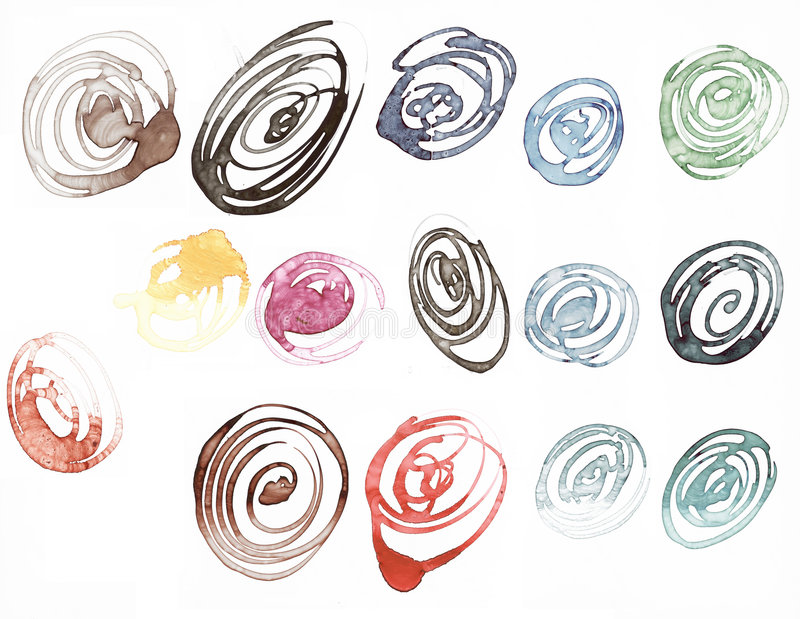 De inktvlekken van Watercolored royalty-vrije illustratie