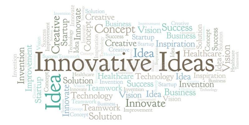 De innovatieve die wolk van het Ideeënwoord, met slechts tekst wordt gemaakt royalty-vrije illustratie