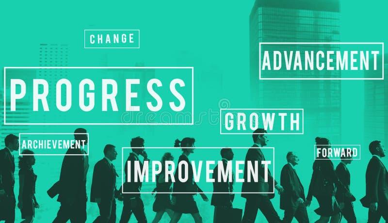 De Innovatieverbetering van de vooruitgangsontwikkeling Concept stock foto