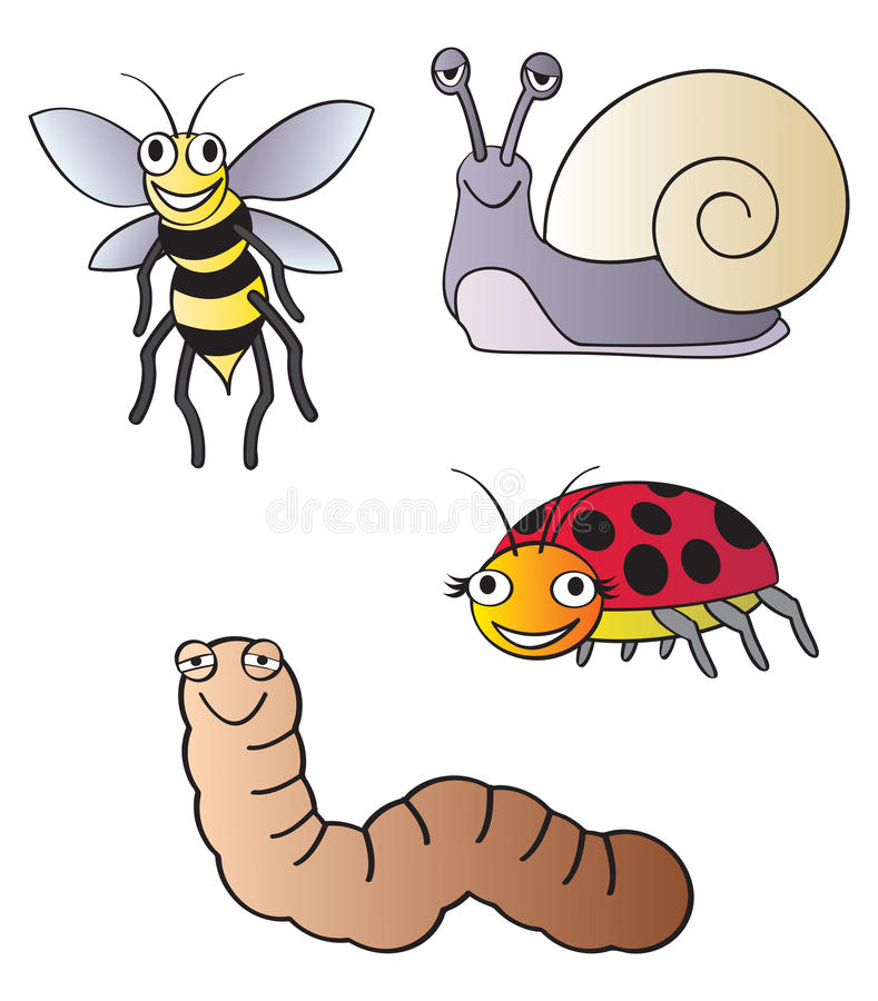 De insecten van de tuin vector illustratie