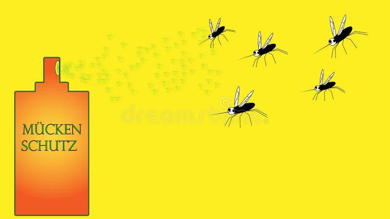 De insectnevel doodt veel muggen stock illustratie