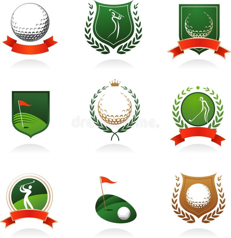 De insignes van het golf