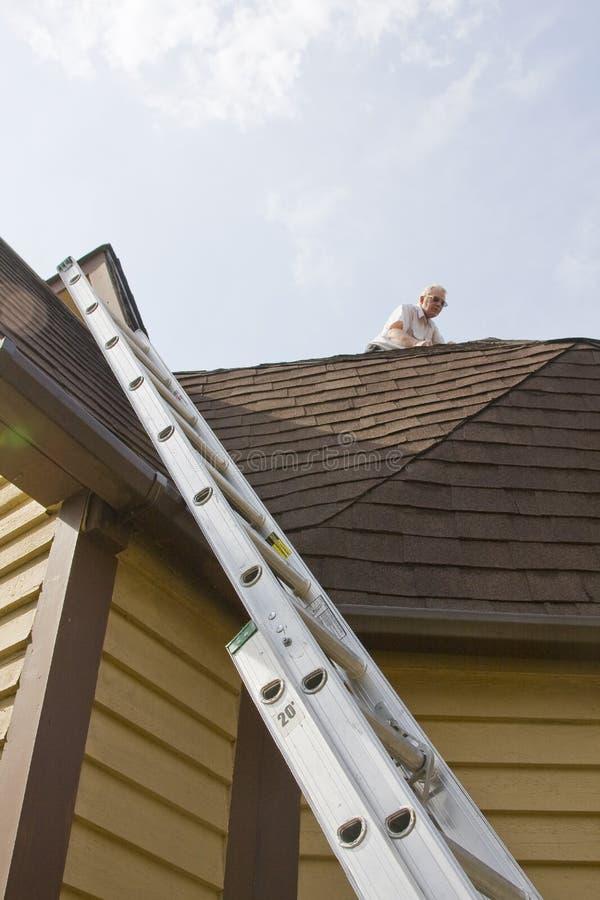 De inspecteur van het dak royalty-vrije stock foto