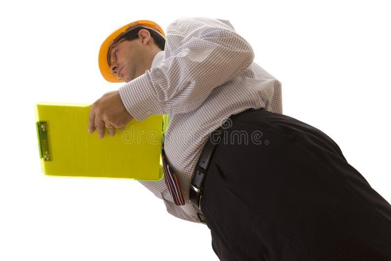 De inspectie van de ingenieur stock afbeeldingen