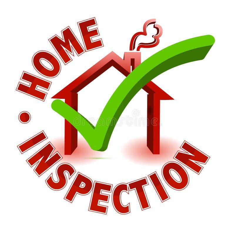 De inspectie van het huis stock illustratie