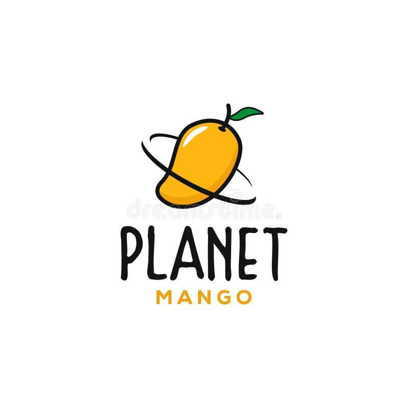 De inspiraties van het embleemontwerpen van de planeetmango stock illustratie
