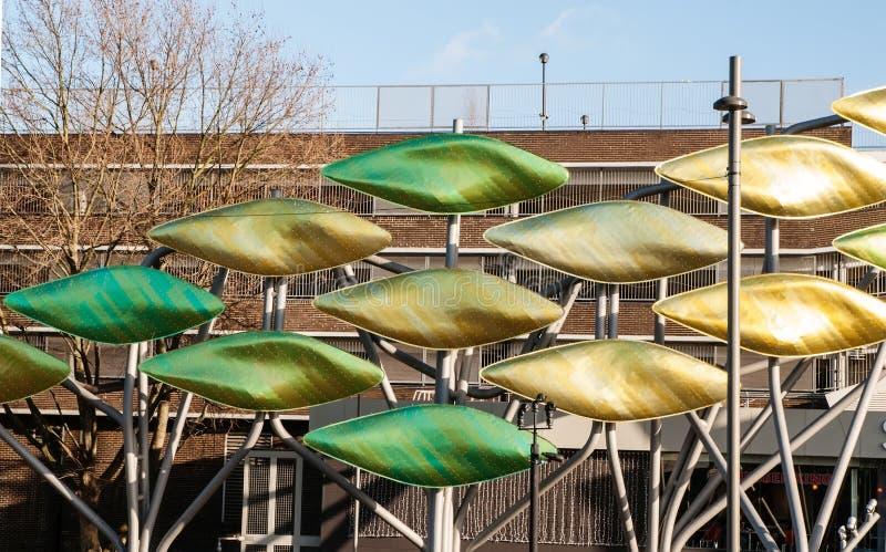 De installatie van de Stratfordskunst, Londen, het Verenigd Koninkrijk stock afbeelding