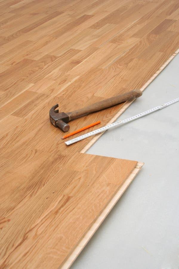 De installatie van de vloer royalty-vrije stock afbeelding