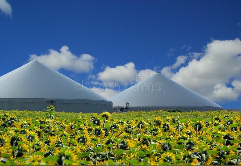 De installatie van het biogas stock afbeeldingen