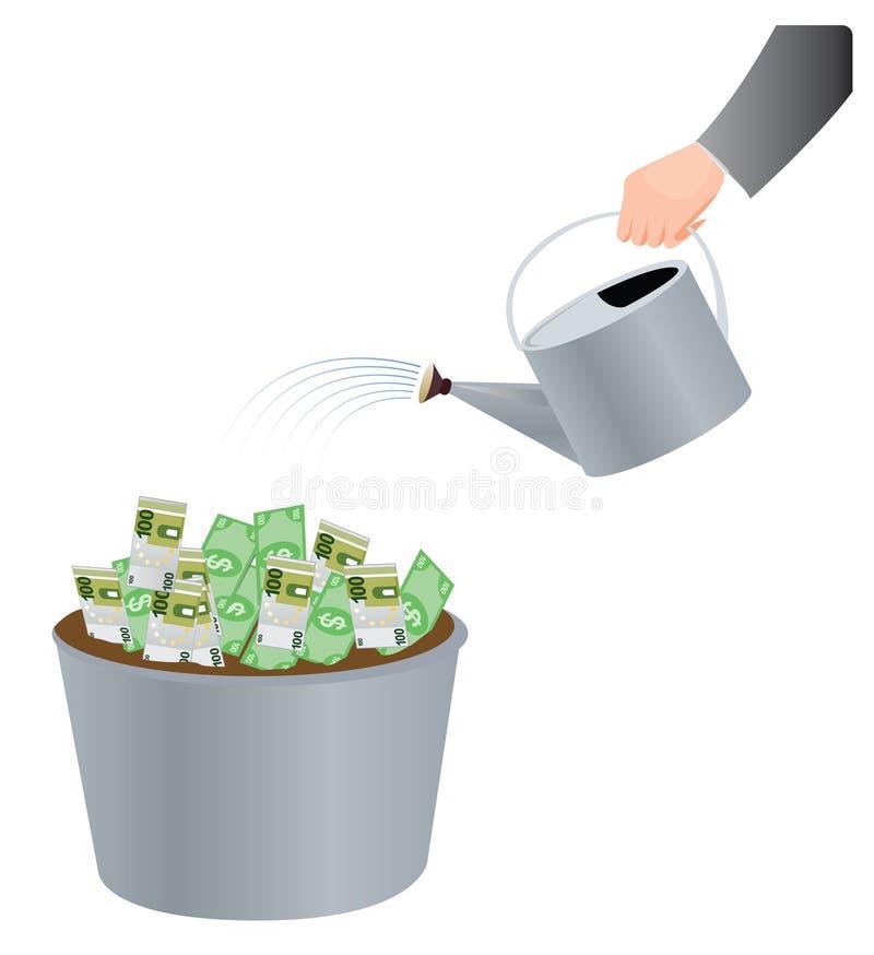 De installatie van het geld vector illustratie