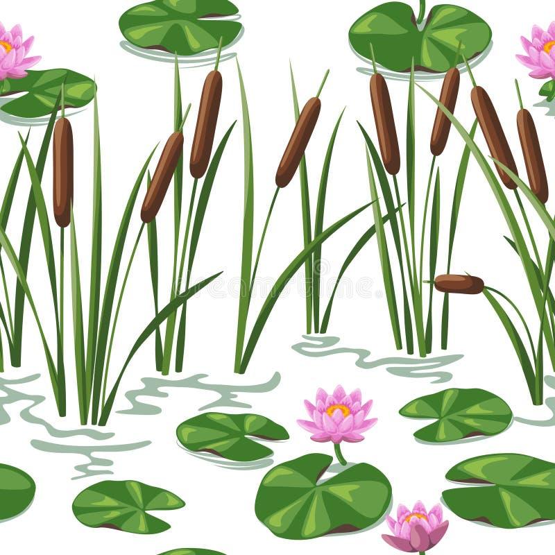 De installatiesachtergrond van het moerasland vector illustratie