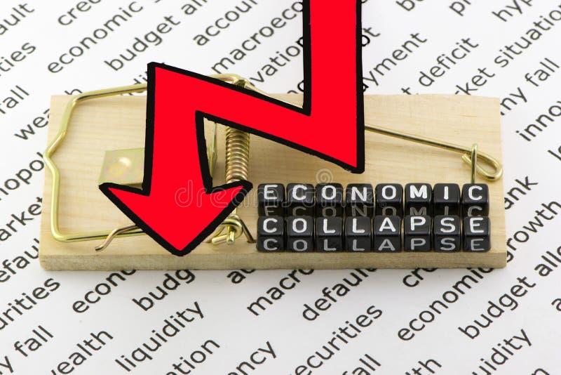De instorting van de economie stock afbeeldingen