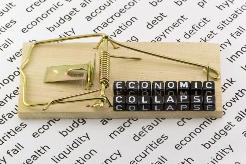 De instorting van de economie royalty-vrije stock afbeeldingen