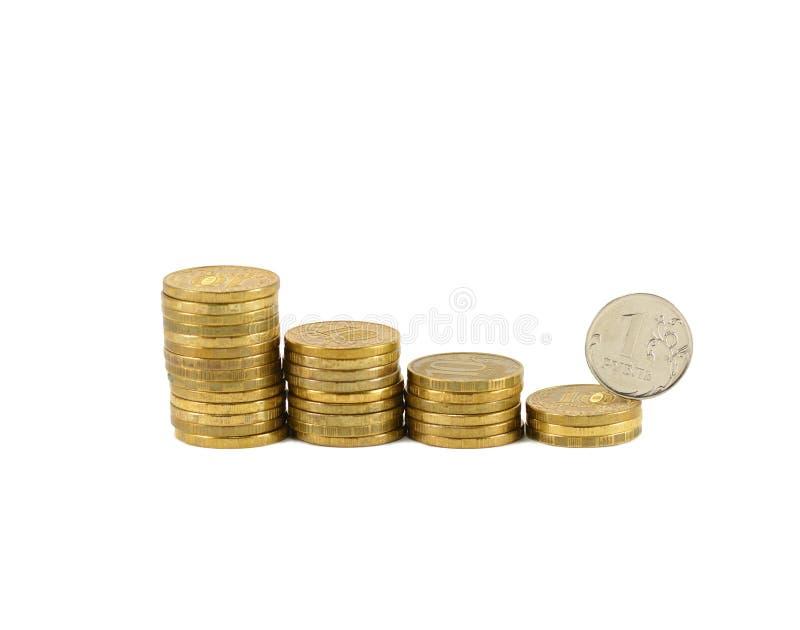 De instorting van de roebel stock foto