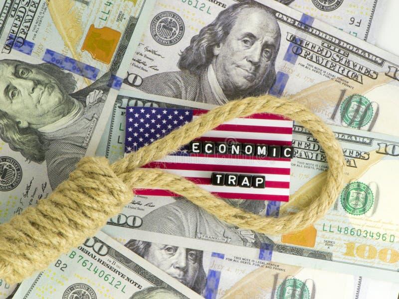De instortingseconomie stock afbeeldingen