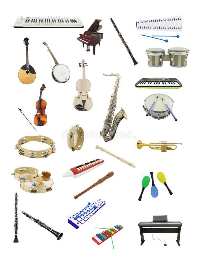 De instrumenten van de muziek vector illustratie