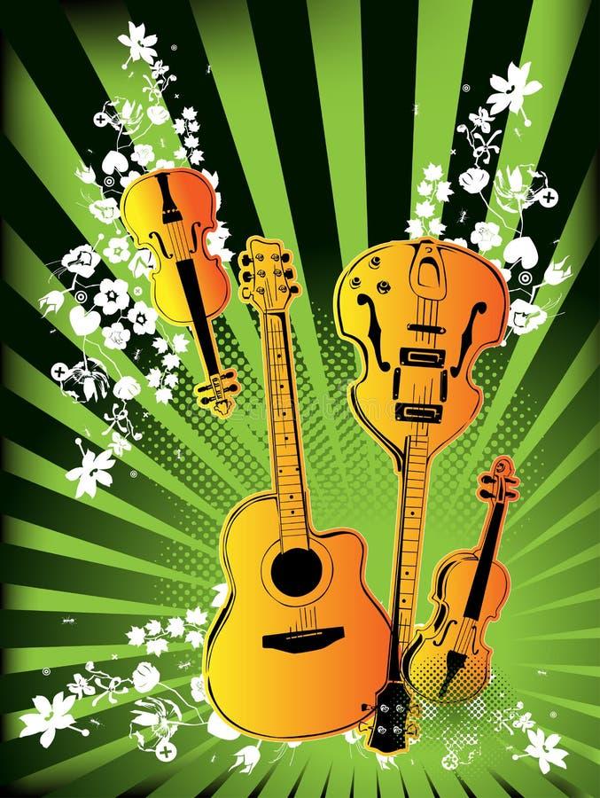 De Instrumenten Van De Muziek Stock Afbeeldingen