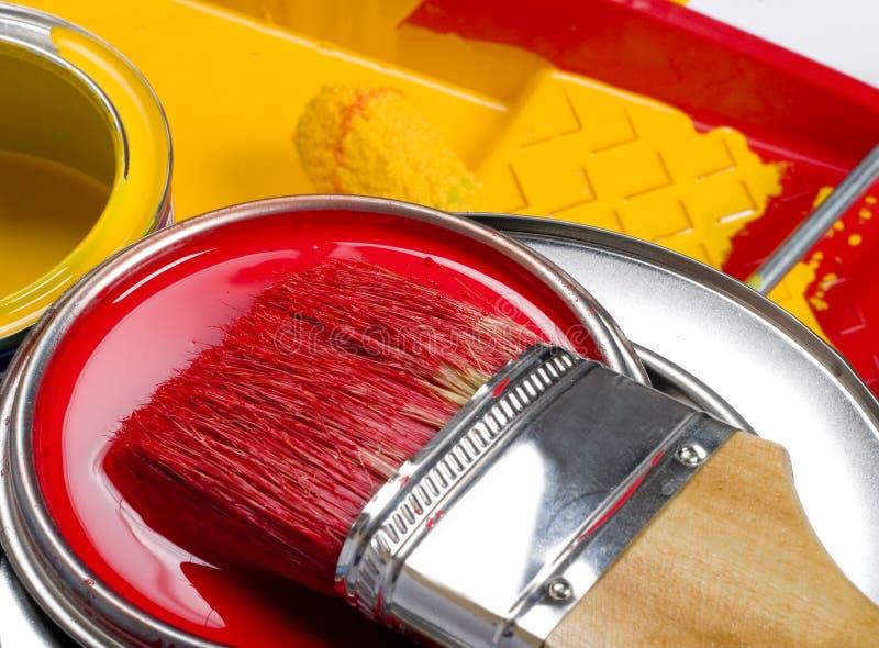 De instrumenten van de schilder stock afbeelding