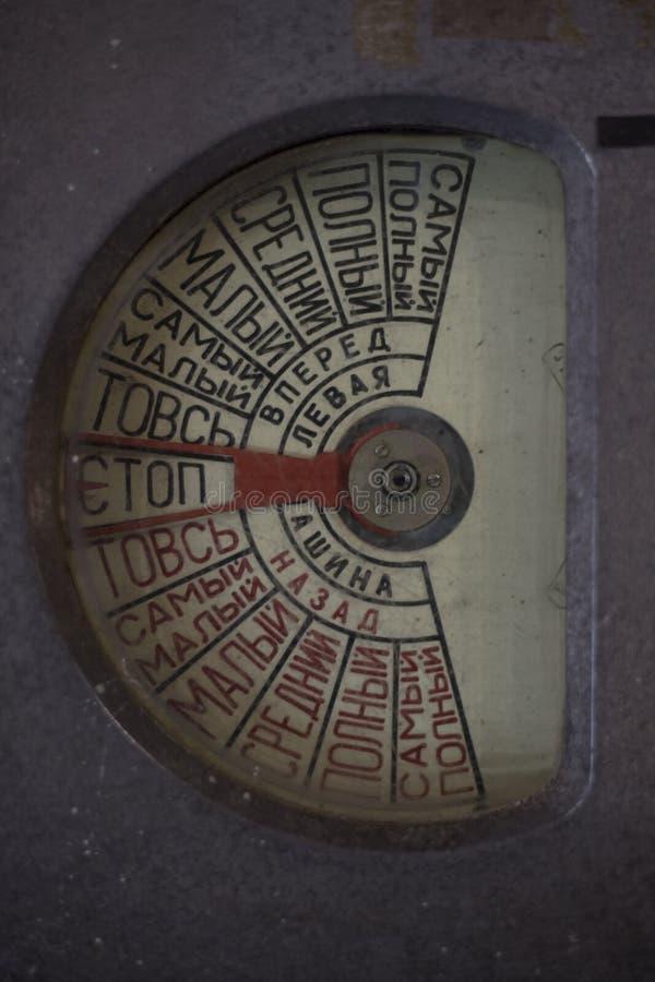 De instrumenten van het schip om beweging te controleren stock afbeelding