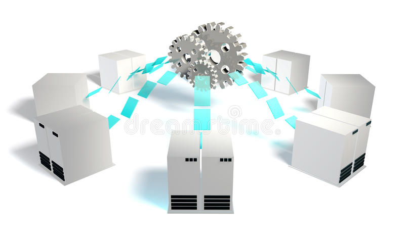 De Integratie van systemen stock illustratie