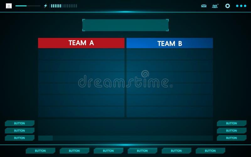 De interface hud abstract ontwerp van de spel ui technologie stock illustratie