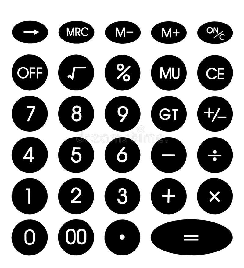 De Interface van de calculator vector illustratie