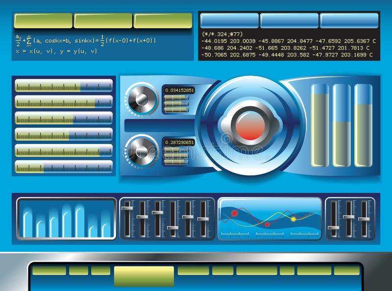 De interface van de software vector illustratie