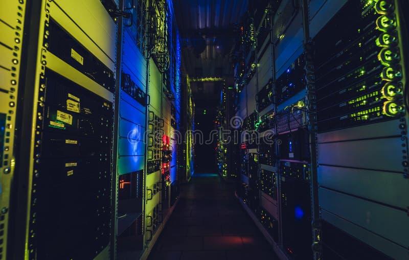 De interface van het gegevenscentrum stock afbeeldingen