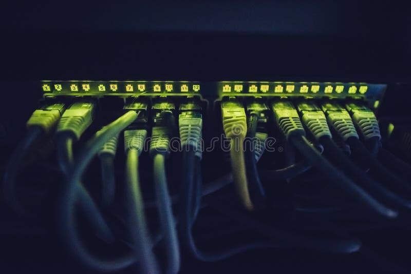 De interface van het gegevenscentrum stock foto's
