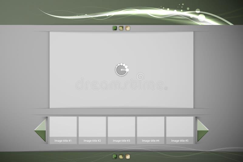 De Interface van het schone Beeld of van de VideoSpeler vector illustratie