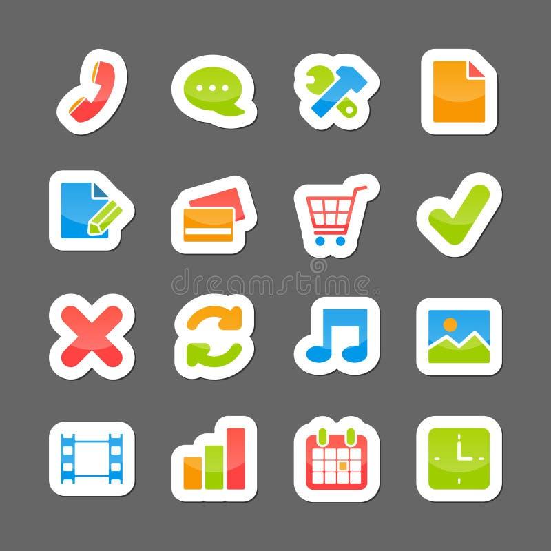 De interfaceelementen van de elektronische handellay-out royalty-vrije illustratie