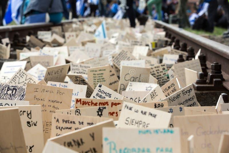 De internationale Dag van de Holocaustherinnering stock foto