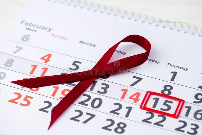 De internationale Dag van Kinderjarenkanker 15 februari teken op cale royalty-vrije stock fotografie