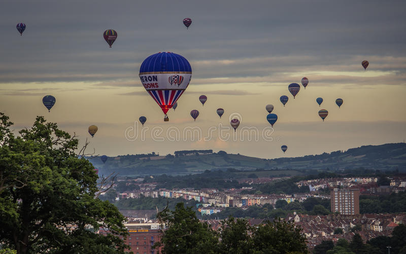 De internationale Fiesta van de Hete Luchtballon in Bristol royalty-vrije stock fotografie
