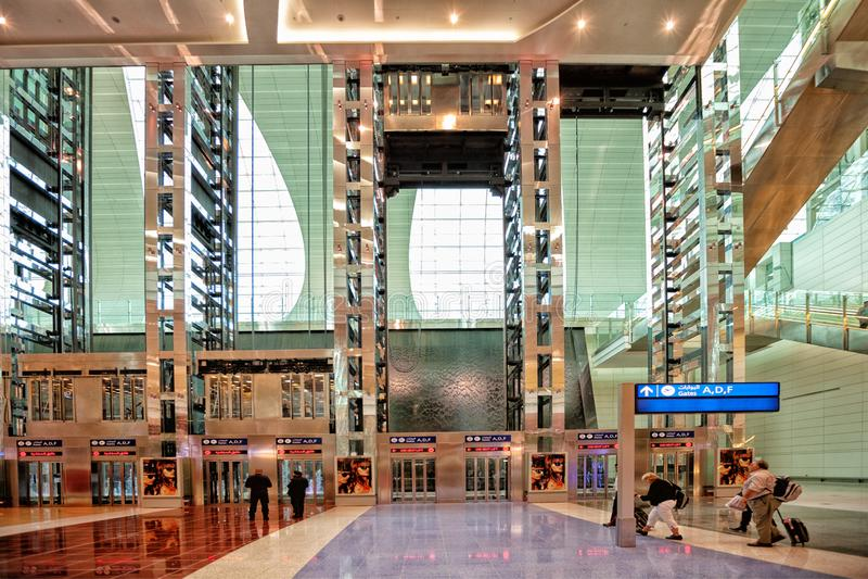 De internationale luchthaven van Doubai stock foto's