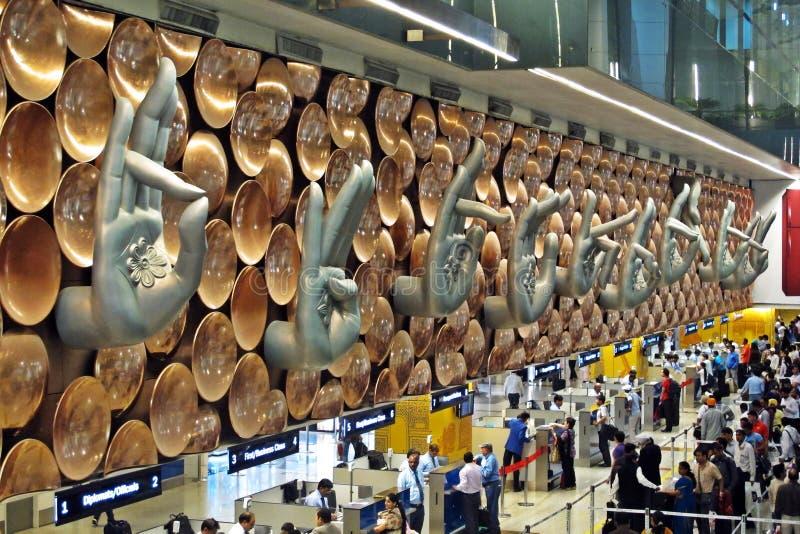 De Internationale Luchthaven van Gandhi van Indira stock foto