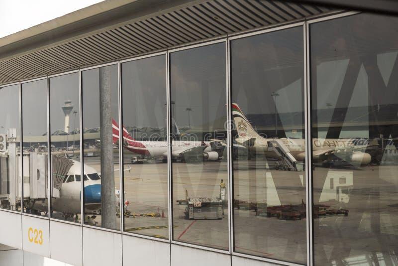De Internationale Luchthaven van Kuala Lumpur stock afbeeldingen