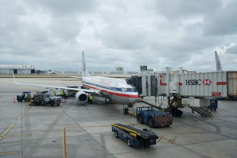 De Internationale luchthaven van Miami stock afbeeldingen