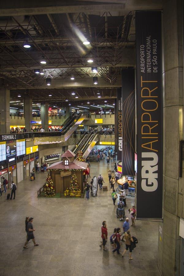 De Internationale Luchthaven van Paulo-Guarulhos van São - Brazilië royalty-vrije stock foto's