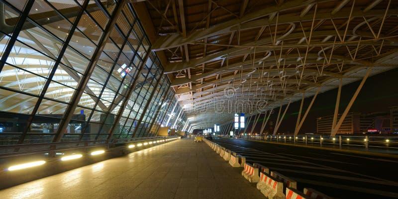 De Internationale Luchthaven van Shanghai Pudong stock afbeelding