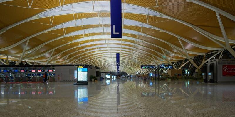 De Internationale Luchthaven van Shanghai Pudong stock fotografie