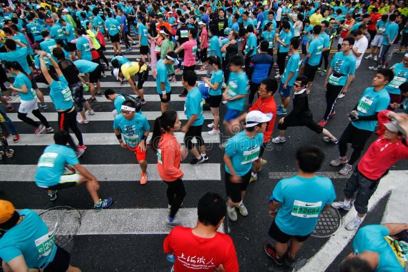 De Internationale Marathon van Shanghai royalty-vrije stock fotografie