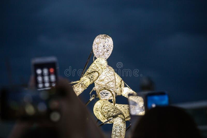 De internationale Marionet van Kunsttentoonstellingsprestaties stock foto's